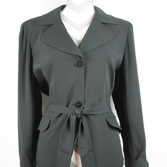 828b2695d8f Anne Klein Jackets & Coats | Womens Silk Blazer Black Sz 14 | Poshmark